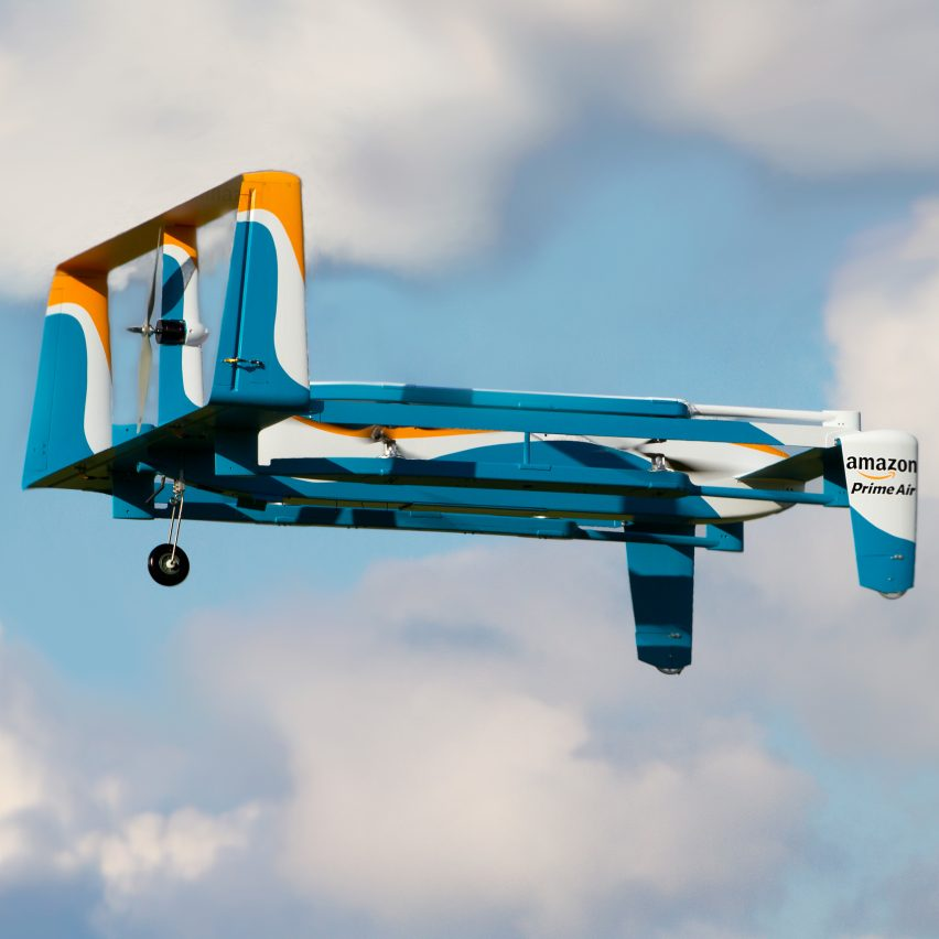 Amazon's Prime Air delivery drone.