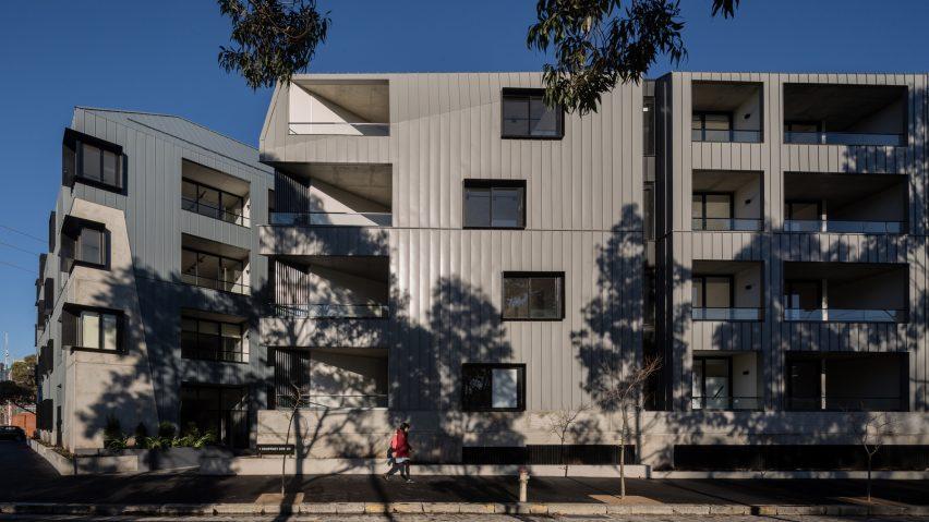 Woods Bagotu0027s Zinc Clad Apartments Echo Industrial Context In Melbourne