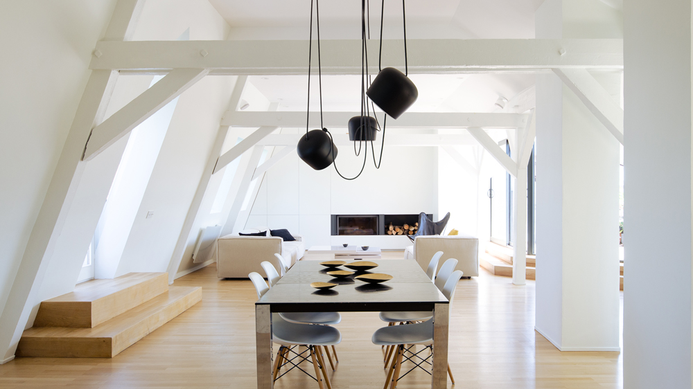 loft room furniture. F+f Architectes Converts Attic Into Bright And Spacious Two-storey Apartment Loft Room Furniture