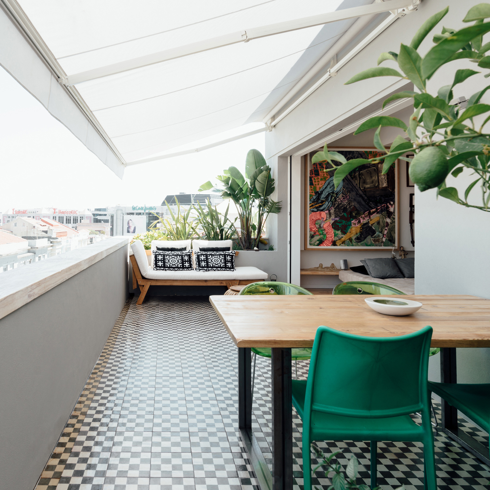 Atelier Data uses light and greenery to transform Lisbon penthouse into  urban oasis