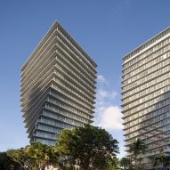 BIG completes pair of twisting towers in Miami's Coconut Grove