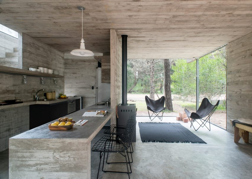 48 Popular Concrete Home Interiors From Dezeen's Pinterest Boards Stunning Interior Design From Home