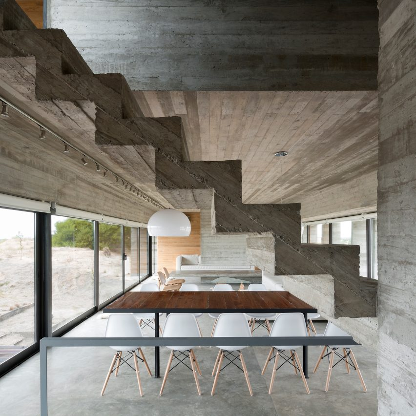 Attractive Casa Golf Luciano Kruk Concrete Interiors Dezeen Col