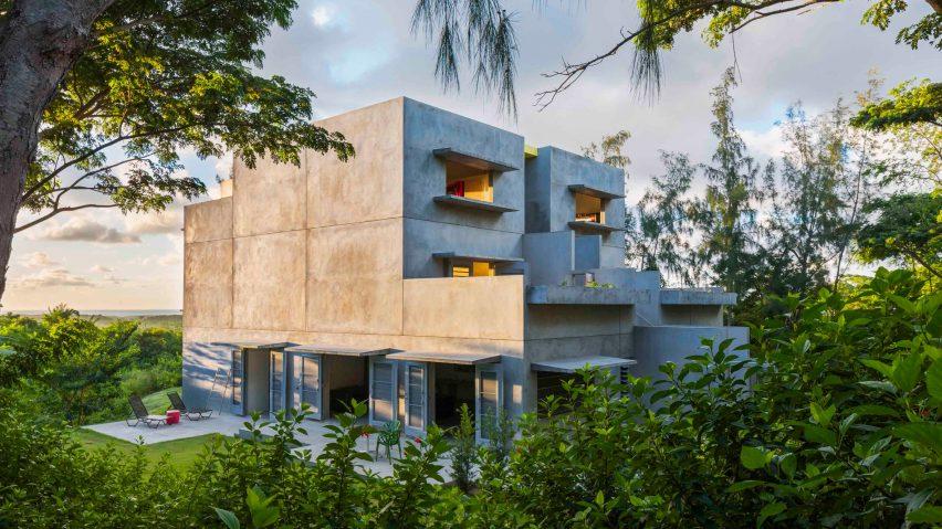 winning caribbean houses design.  John Hix designs off grid concrete guesthouse for Caribbean island