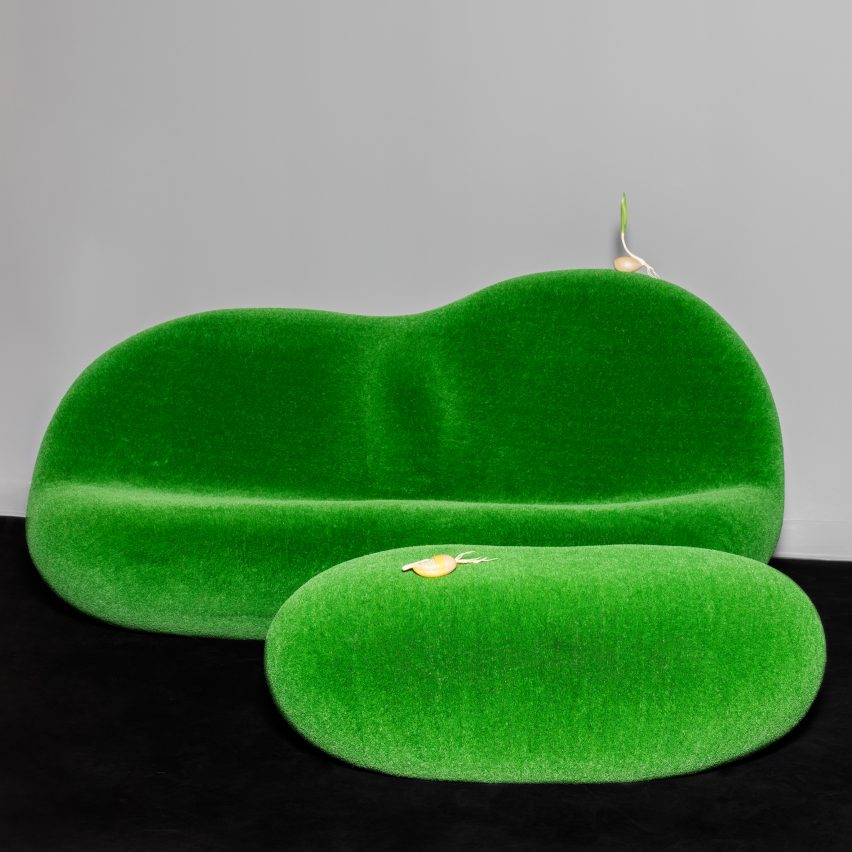 Azuma Makoto's botanical sofa for the Chamber gallery. Photograph by Lauren Coleman.