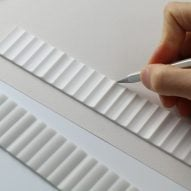 "Erdem Selek's Corrugated Ruler ""soothes eyes"" when not in use"