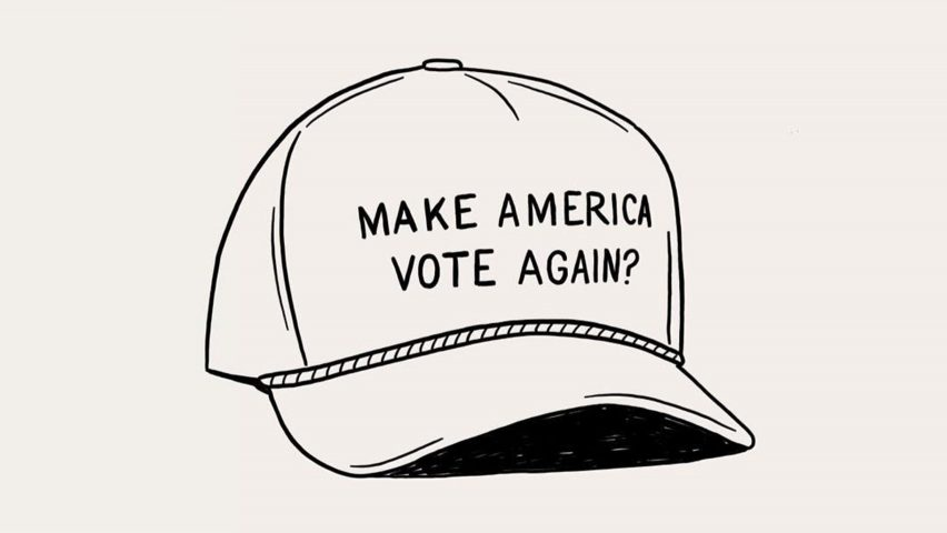 Make America Vote Again? illustration by Matt Blease