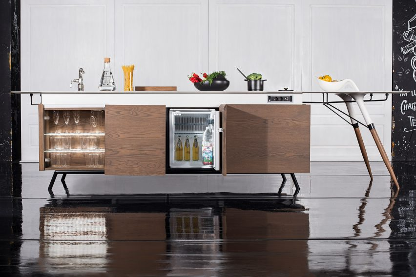 Dsignedby creates space-saving kitchen unit for millenials