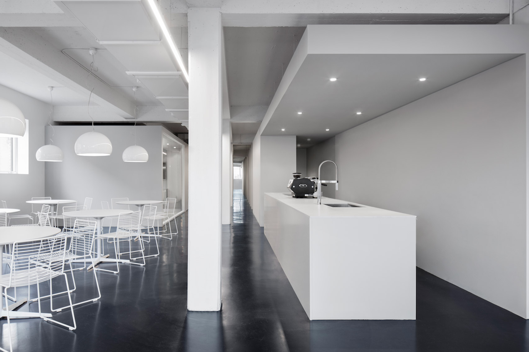 Anne Sophie Goneau creates stark office for digital design company in Montreal