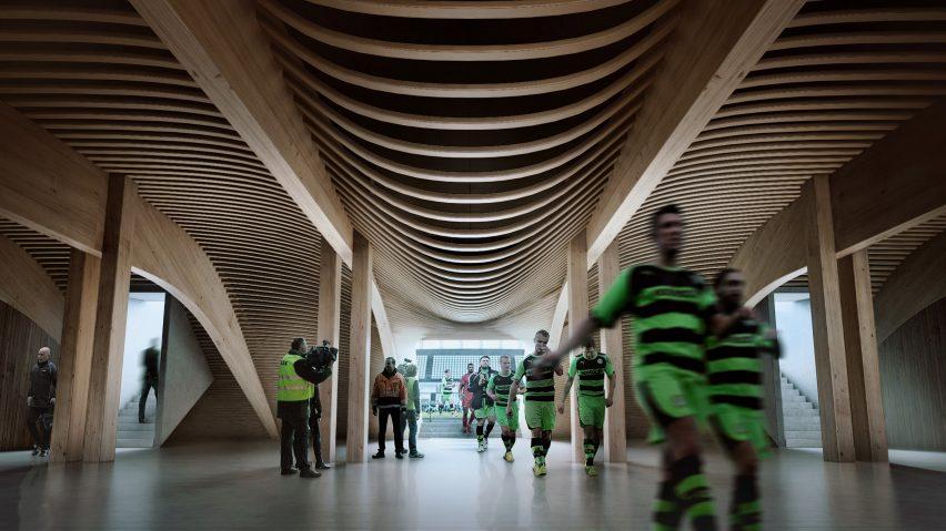 Zaha Hadid Forest Green Rovers timber stadium