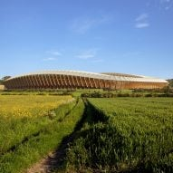 Zaha Hadid Architects to build world's first wooden football stadium