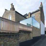 Glass Box extension by Studio 304 sits atop park-side home in Hackney