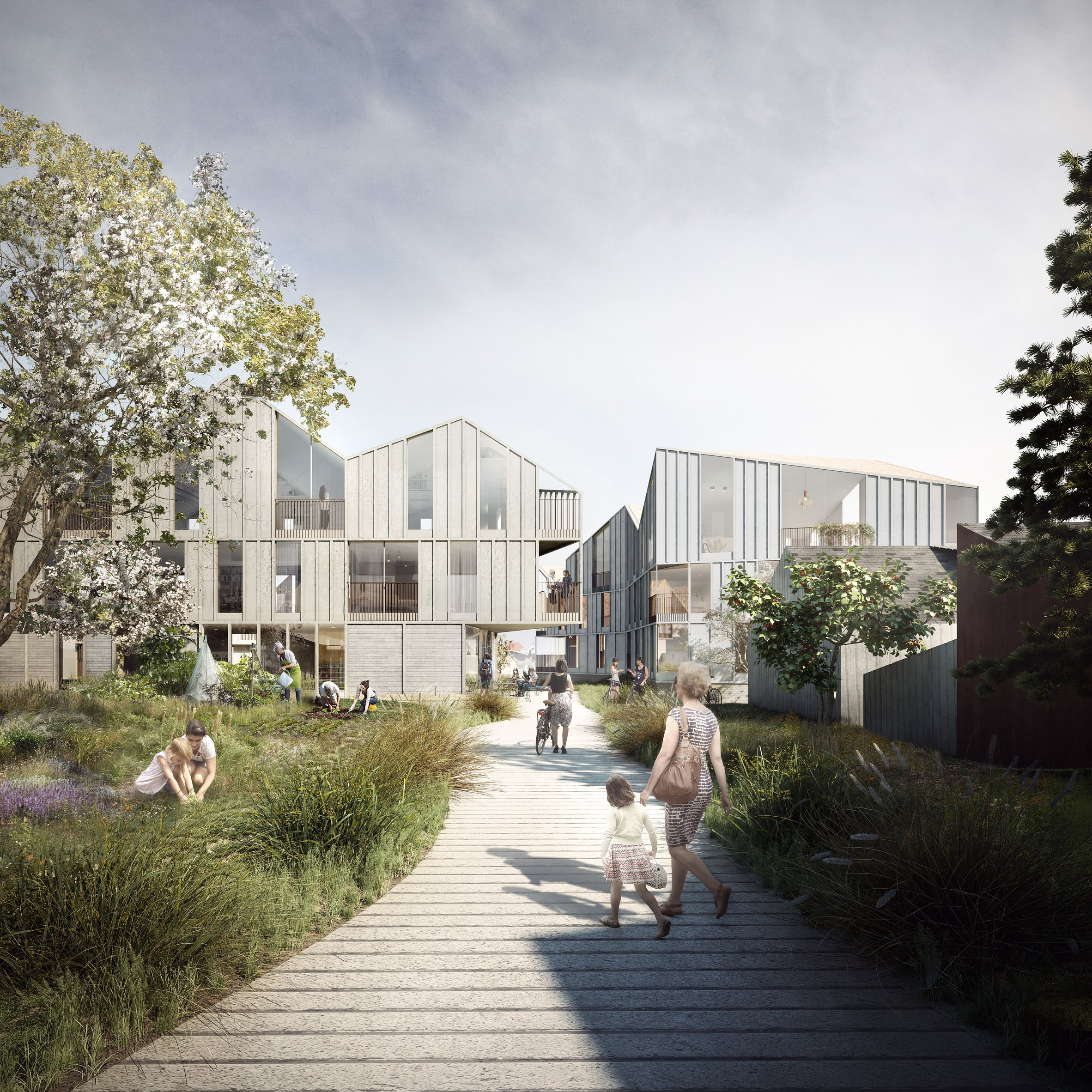 Charming Haptic Designs Elderly Housing For Norway To Encourage Residents To  Socialise Part 27