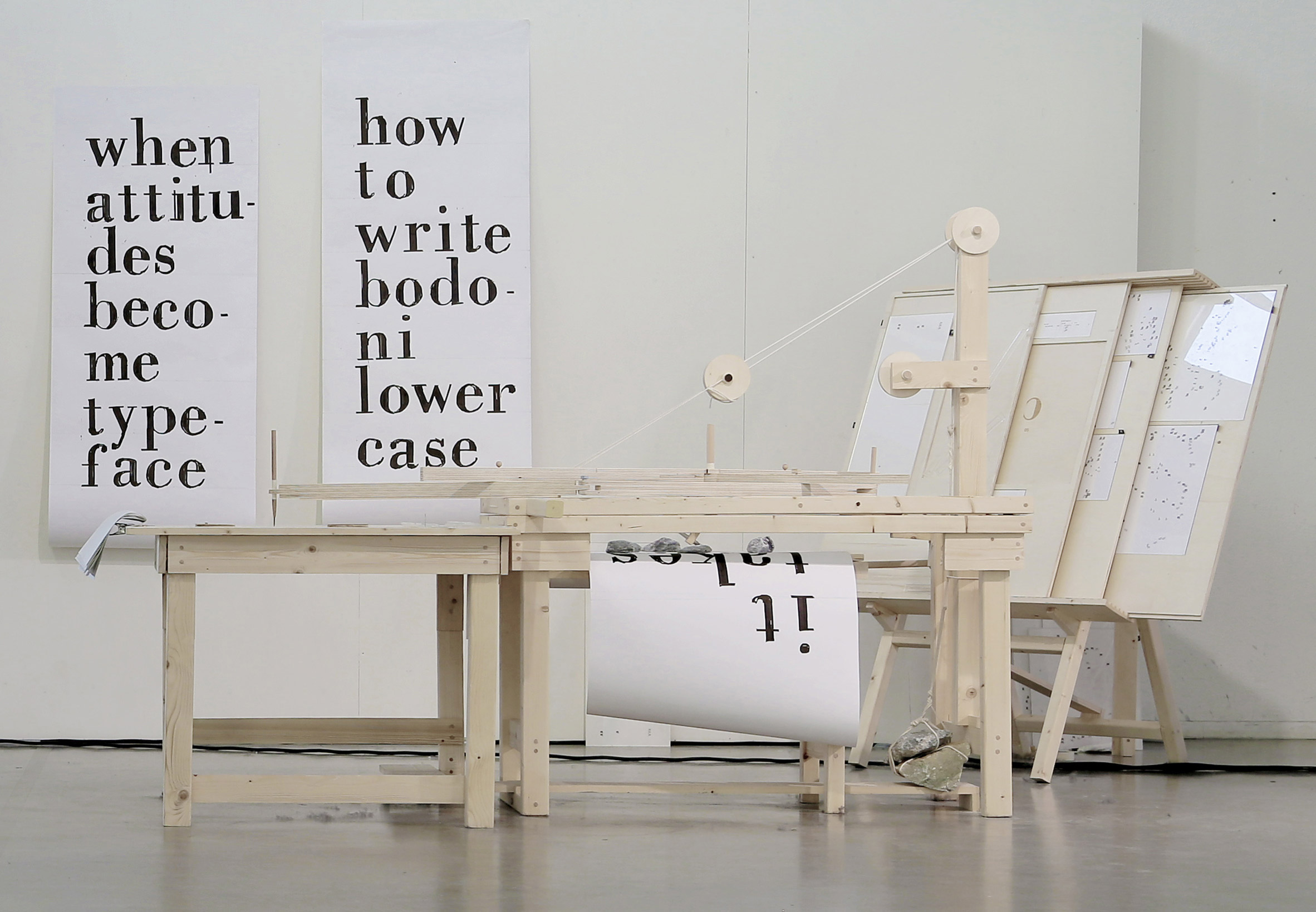 "Wooden machine produces ""handwritten"" version of Bodoni typeface"
