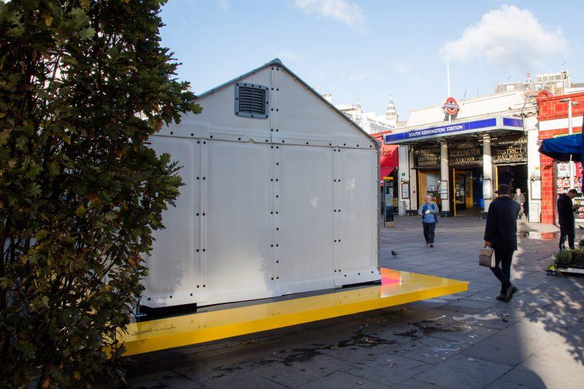 Design Museum installs Ikea Shelter.   & Design Museum installs IKEA refugee shelter on London streets