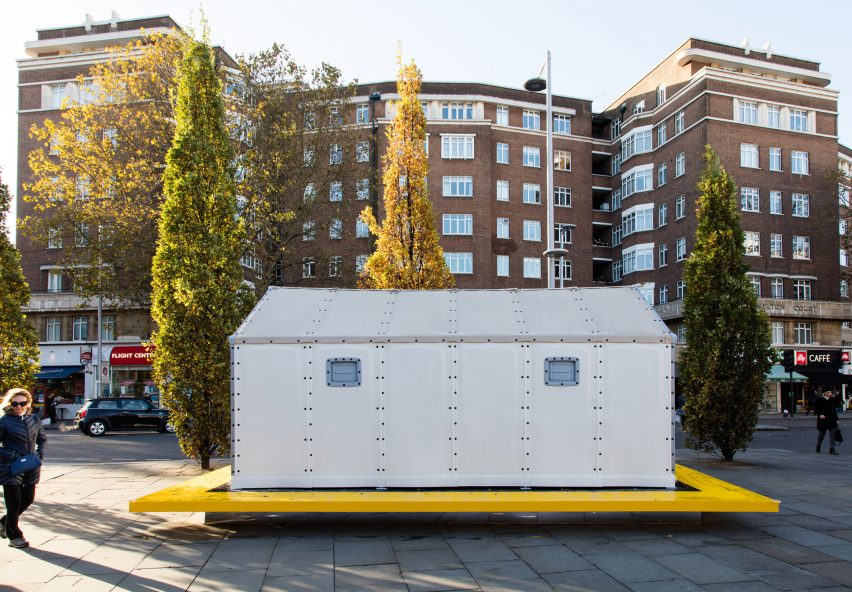 Design Museum installs Ikea Shelter & Design Museum installs IKEA refugee shelter on London streets