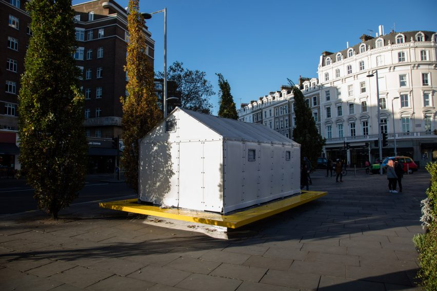 Architecture Design Museum design museum installs ikea refugee shelter on london streets