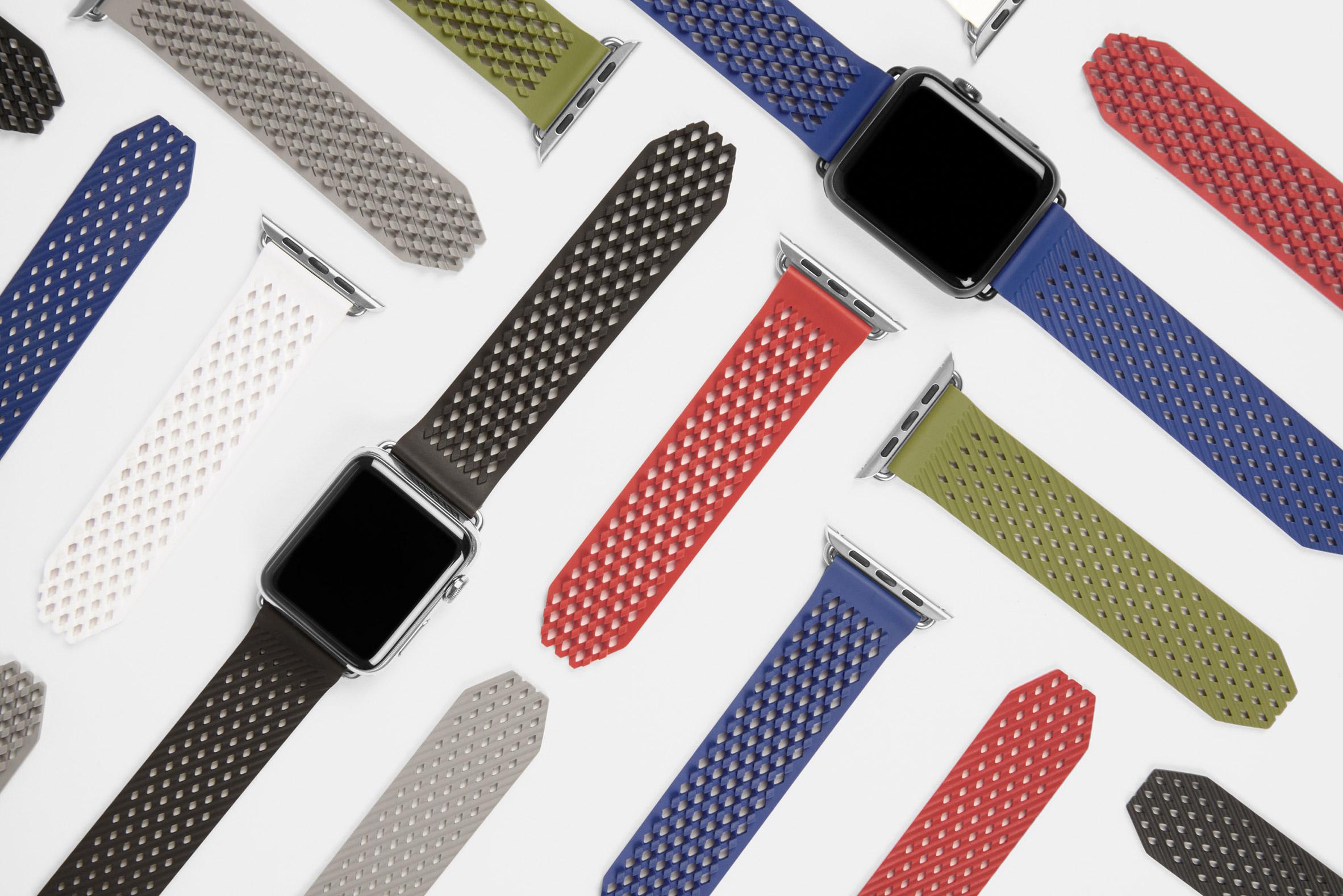 Benjamin Hubert designs self-gripping strap for Apple Watch