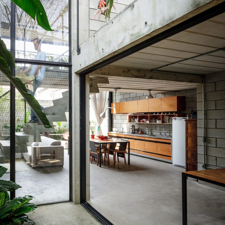 Maracana House Terra E Tuma Concrete Interiors Dezeen