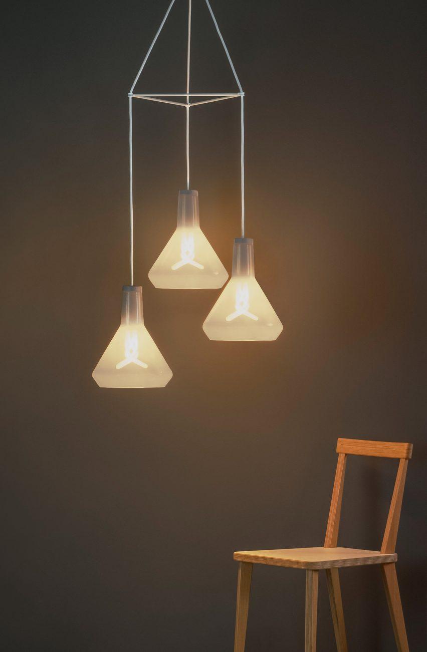 Modular chandelier by Plumen