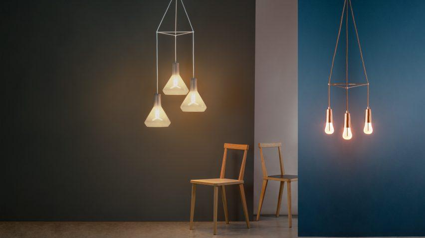 Plumen adds customisable chandelier kit to lighting range