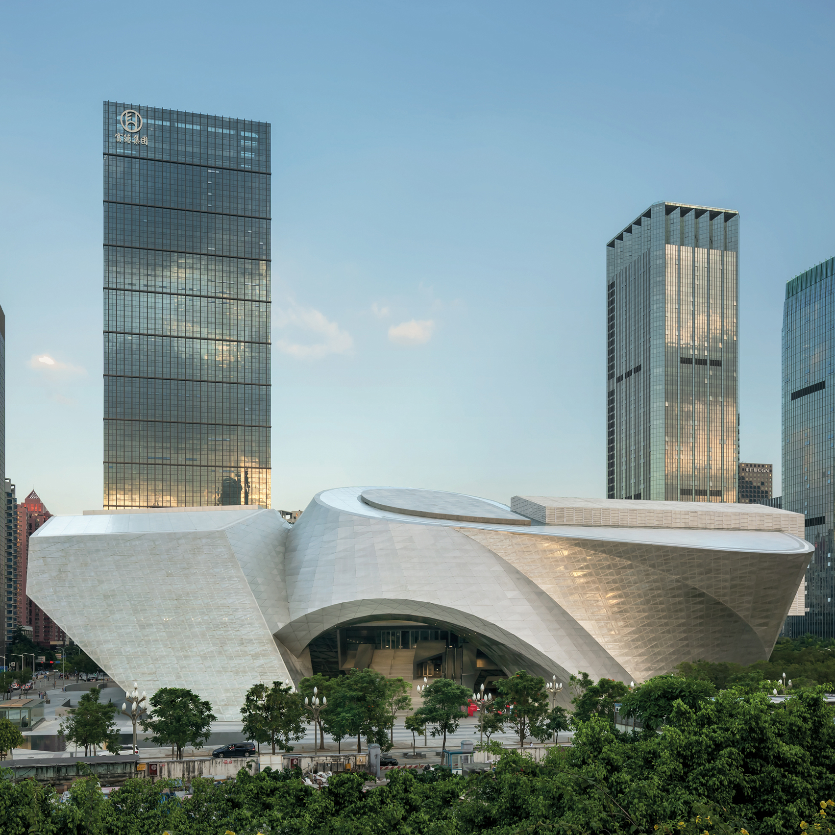 Coop Himmelblau Combines Flat And Curving Forms At Huge Shenzhen Art Complex