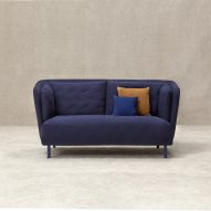 Sancal bases quilted Obi sofa on Japanese kimonos