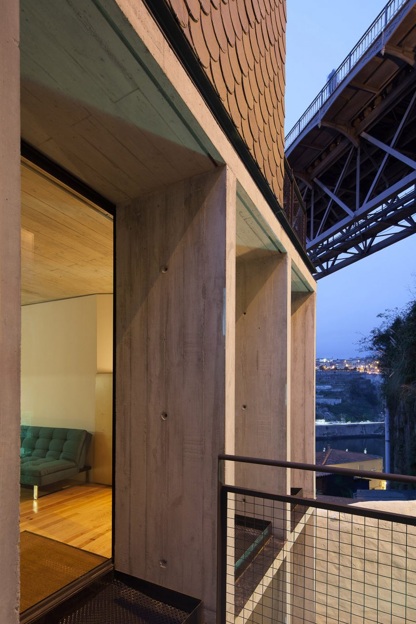 Oh Porto apartments by Nuno Sousa Melo and Hugo Ferreira Architects