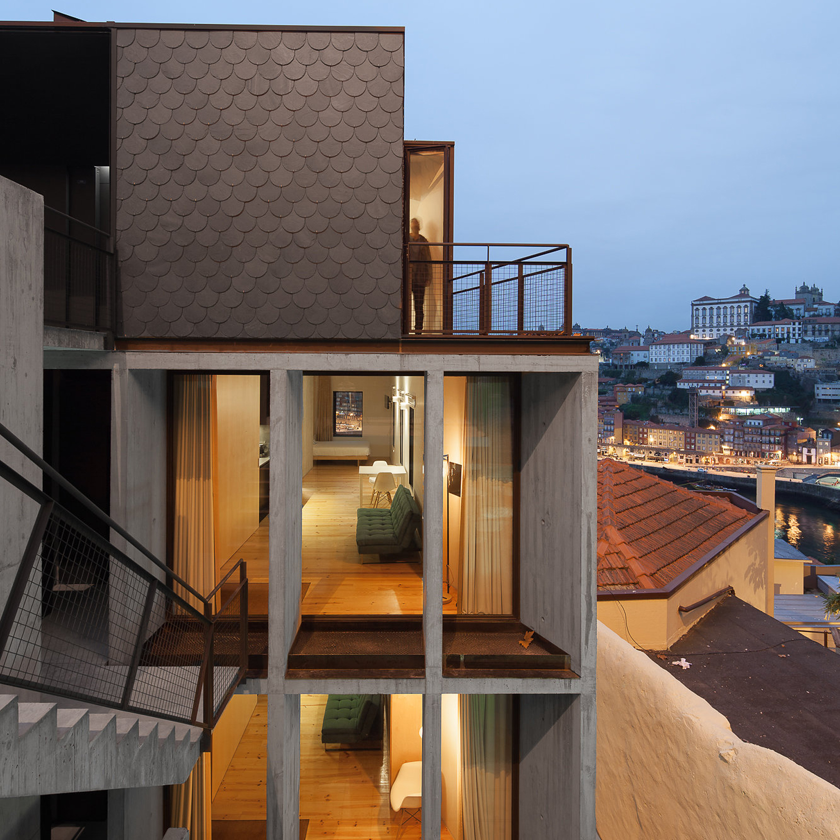 Concrete Apartments Slot Into Cliff Overlooking Porto 39 S