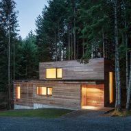 Agathom builds artist's cabin in dense British Columbia forest