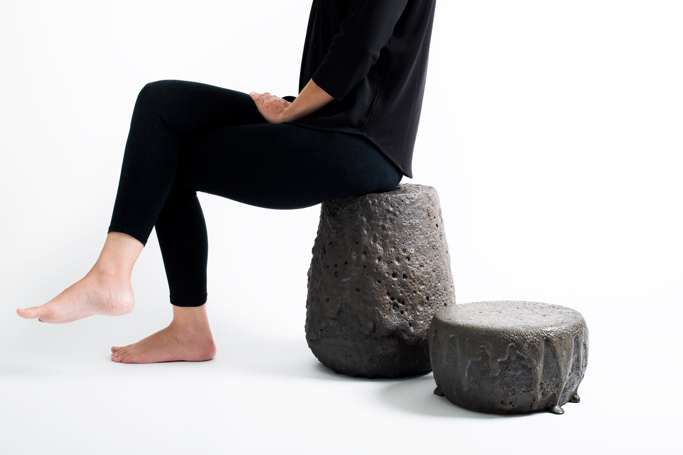 G2TP melts rock from Chilean volcanoes to create Remolten furniture