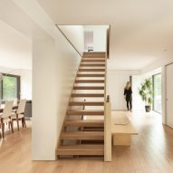 Atelier Pierre Thibault reorganises Quebec home around central plywood stairs