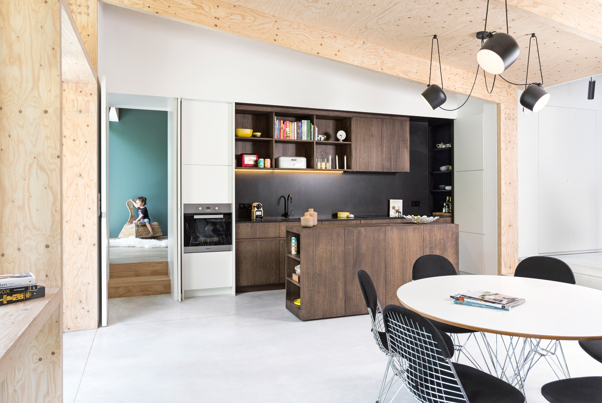Rob Mols and Studio K update Belgian home with wood-lined garden room