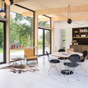 Rob Mols And Studio K Update Belgian Home With Wood Lined Garden Room