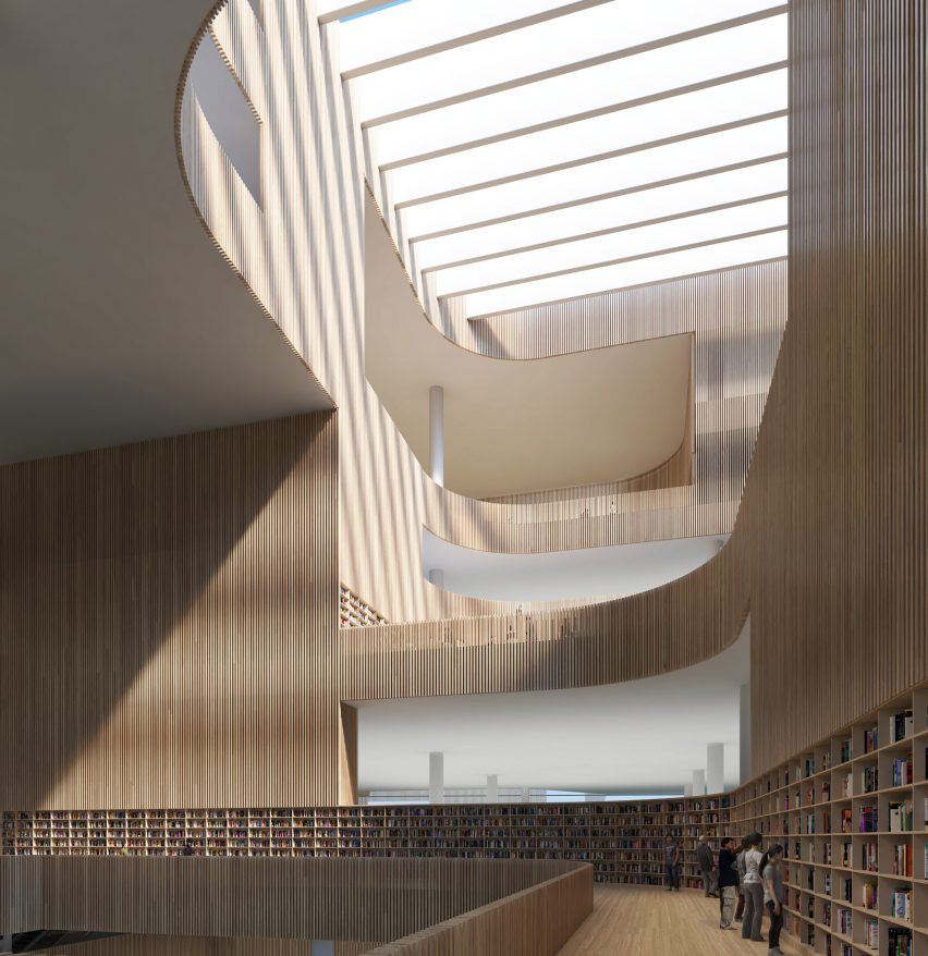 Shanghai Library by Schmidt Hammer Lassen Architects