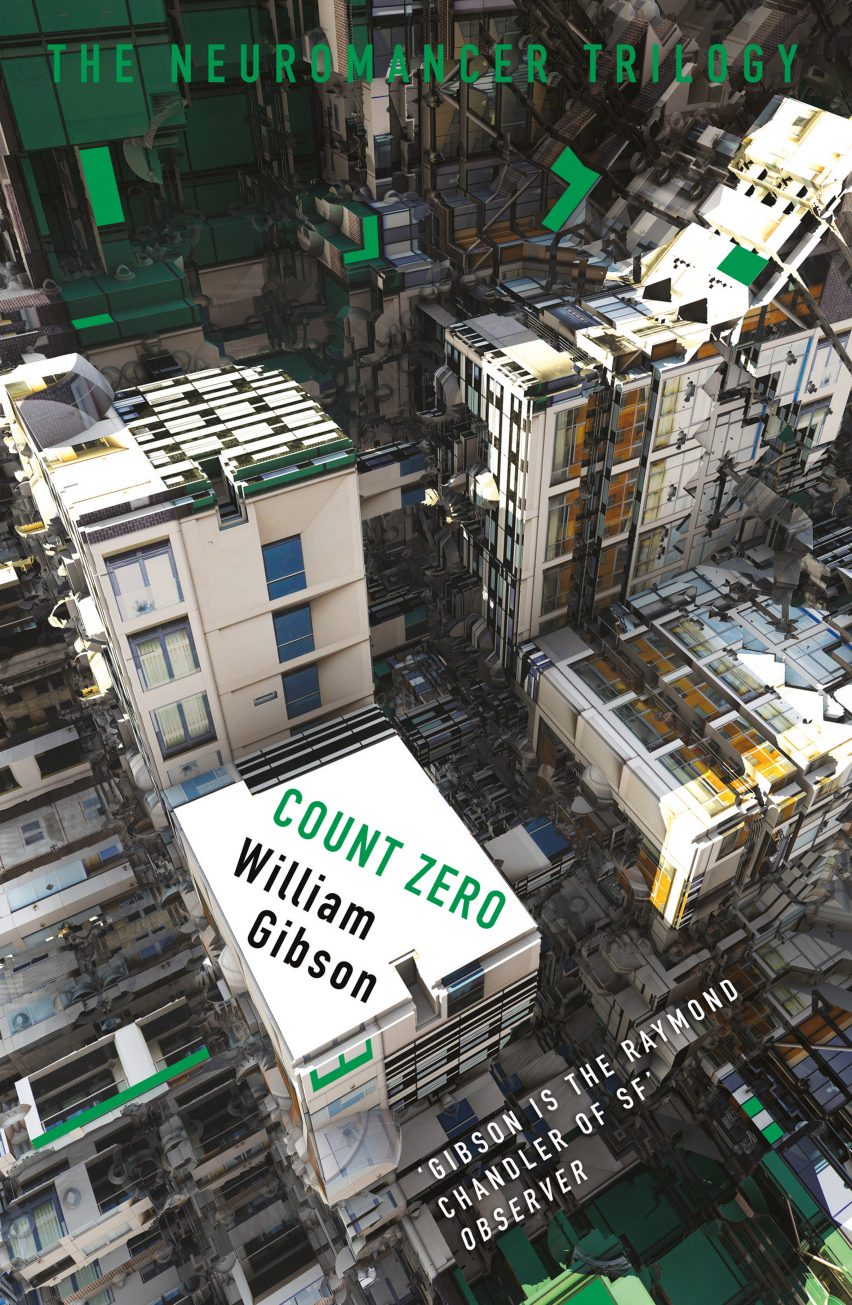 William Gibson book covers based on fractals of architecture