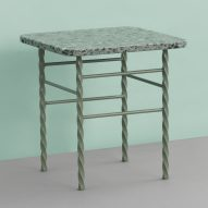 Normann Copenhagen's speckled Terra tables join the terrazzo trend