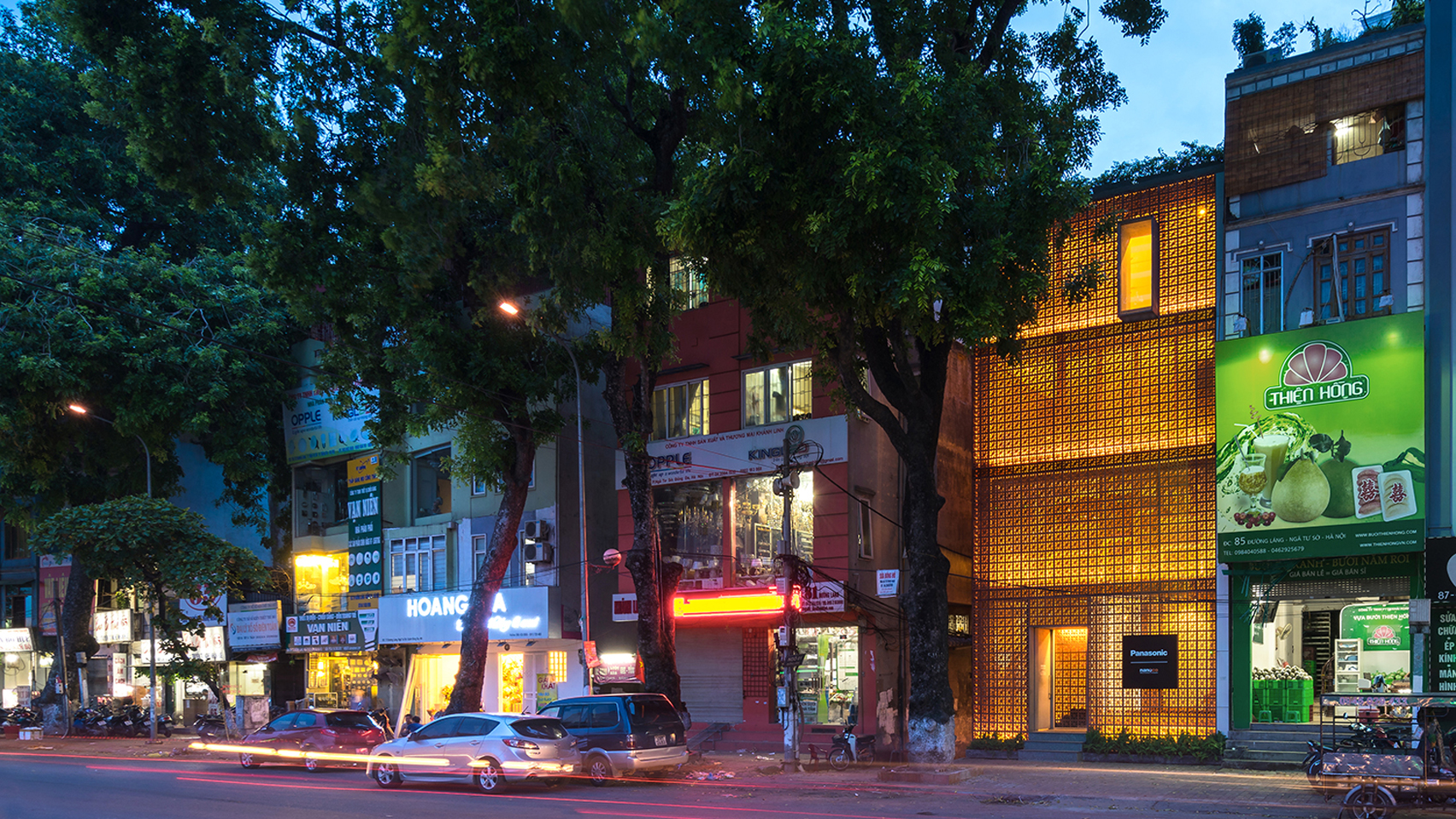 The Lantern for Nanoco-Panasonic Lighting Showroom in Hanoi by Vo Trong Nghia Architects