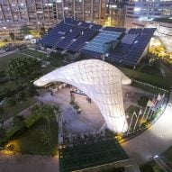 Arching bamboo events pavilion in Hong Kong showcases digital fabrication