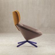 Nadadora models Tortuga chair for Sancal on tortoise shell