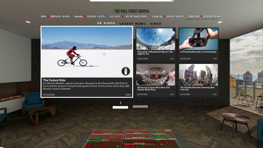 Wall Street Journal Launches Architect Designed Virtual