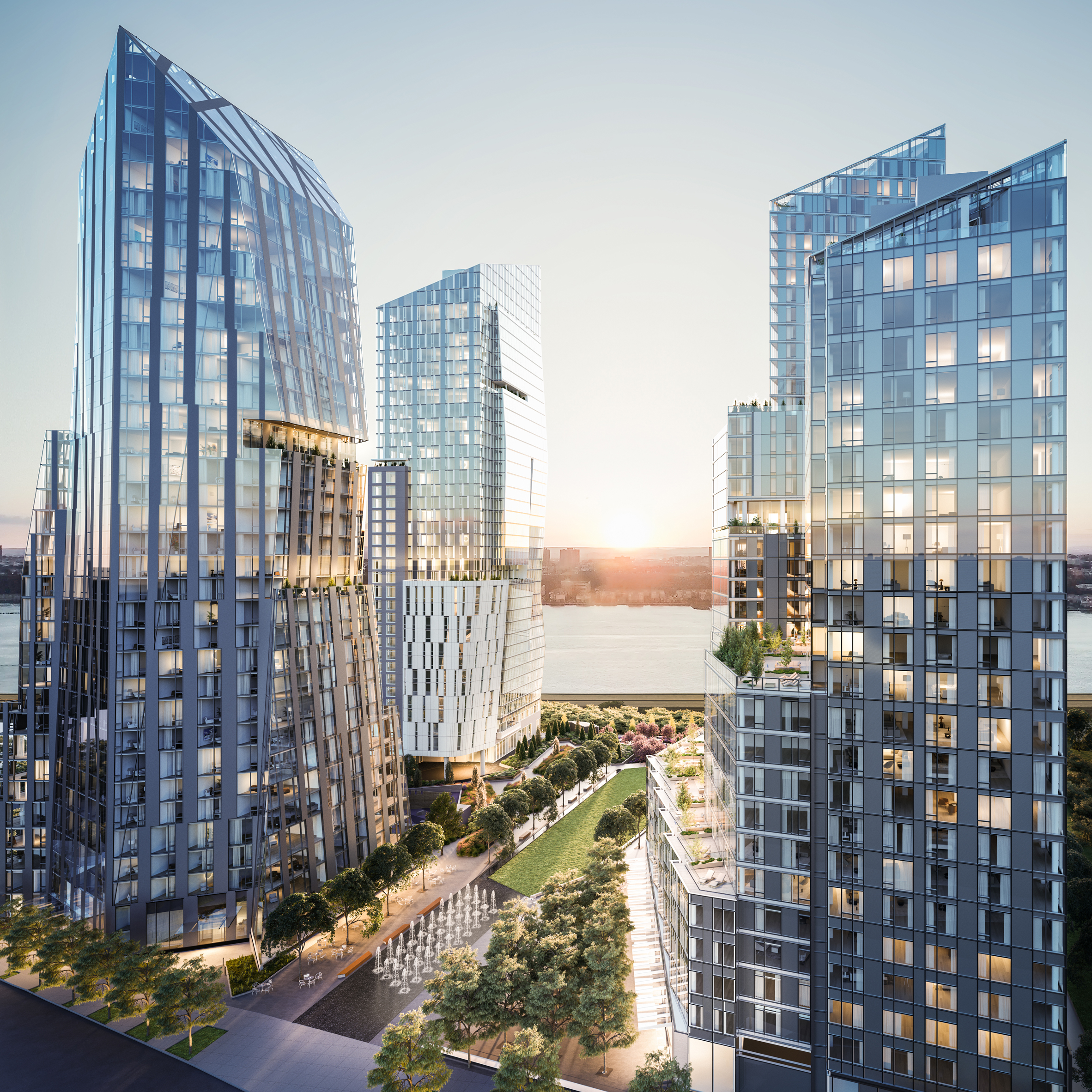Viñoly, Meier and KPF design luxury towers for Manhattan waterfront  development