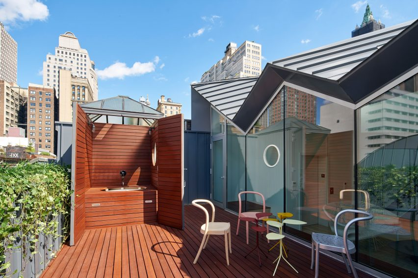 Apartment Building Roof workac adds jagged rooftop extension to historic manhattan building