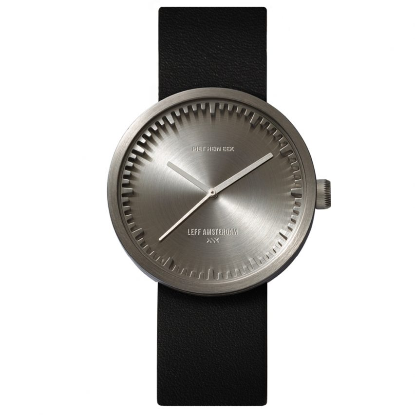 Tube Watch D38 Steel by Piet Hein Eek and Leff Amsterdamfrom Dezeen Watch Store