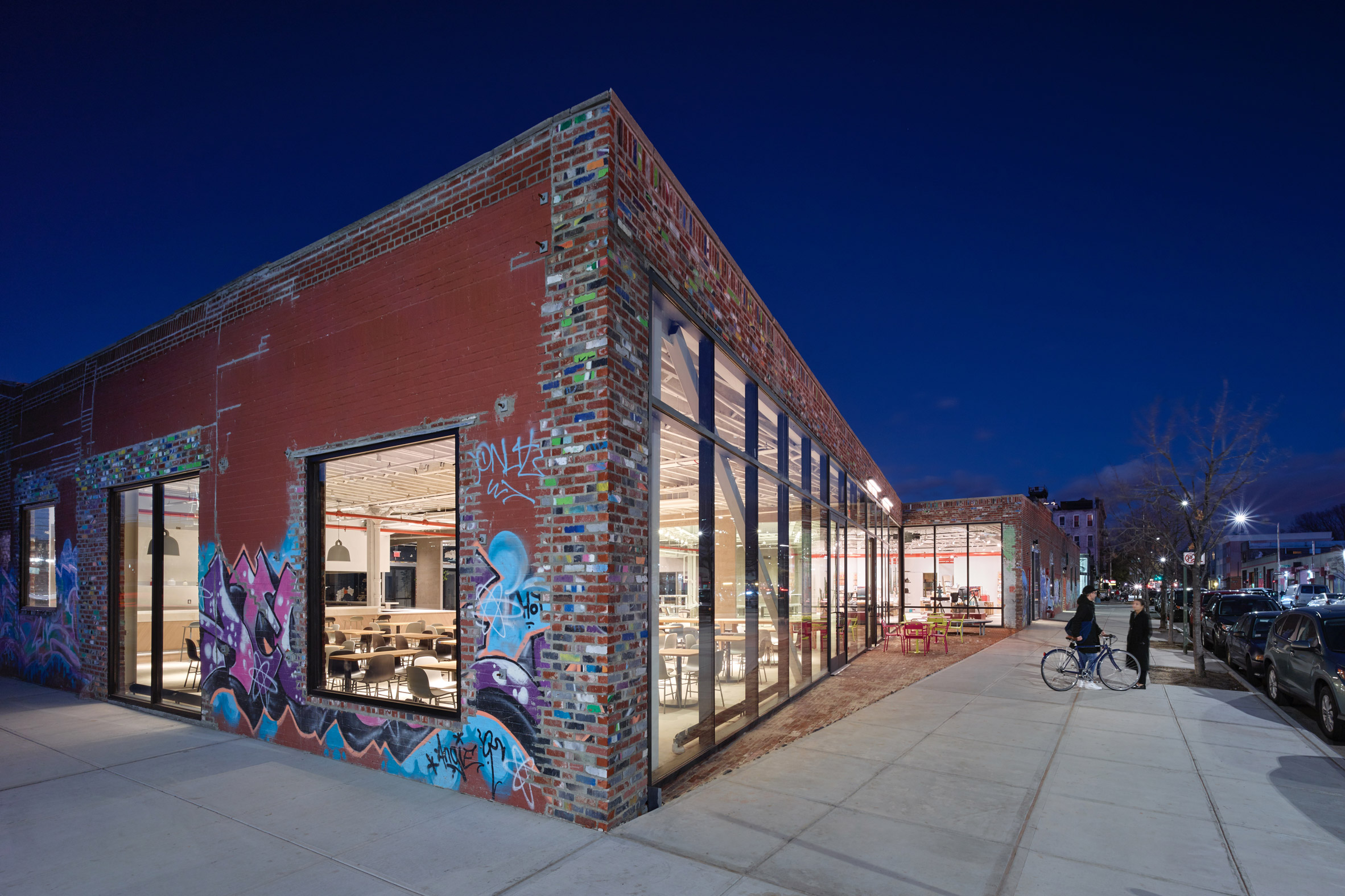 A/D/O creative space completes in Brooklyn building overhauled by nArchitects