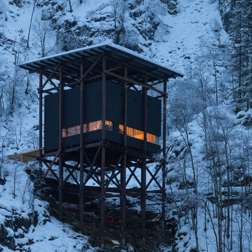 Peter Zumthor's visitor facilities at a historic mine in Norway
