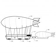 Amazon files patent for flying warehouses filled with drones