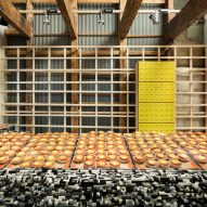 Kyoto cheese tart shop by Yusuke Seki features counter made of Lego