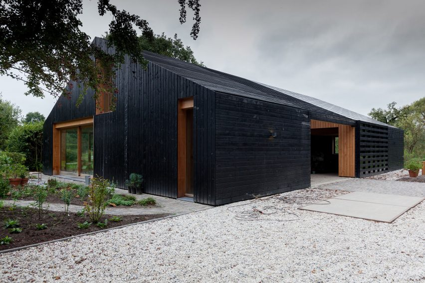 blackened wood barn rijswijk apartment workshop architecten netherlands sheep