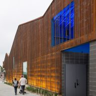 Min | Day clads Nebraska theatre in weathering steel and rebar